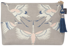 Flight Of Fancy Small Linen Cosmetic Bag