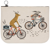 Wild Riders Large Zipper Pouch