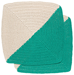 Angle Crochet Dishcloths <br> Set of 2 Sea Green