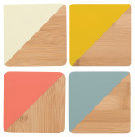 Angle Bamboo Coasters - Sienna<br> Set of 4