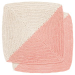 Angle Crochet Dishcloths <br> Set of 2 Peony