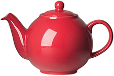 Red Globe Teapot <br> 6-cup