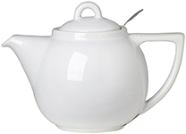 White Geo Filter Teapot <br> 2-cup