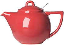 Red Geo Filter Teapot <br> 2-cup