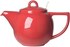 Red Geo Filter Teapot <br> 4-cup
