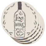 Love The Wine You're With Soak Up Coaster Set of 4