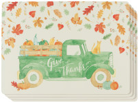 Autumn Harvest Cork-Backed Placemats Set of 4