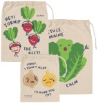 Funny Food Produce Bags Set of 3