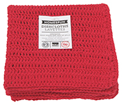 Red Homespun Crochet Dishcloths <br> Set of 2