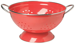 Red 3 Qt Metal Colander