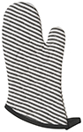 Black Narrow Stripe Black Superior Oven Mitt
