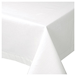 White Hemstitch Tablecloth <br> 60 x 120 inch