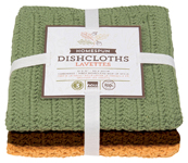 Harvest Homespun Crochet Dishcloths <br> Set of 2