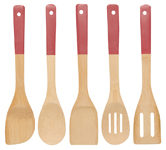 Bamboo Utensils <br> Set of 5 Chili