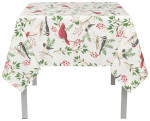 Winter Birds Tablecloth <br> 60 x 60 inch