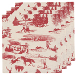 Holiday Toile Napkins <br> Set of 4