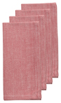Chambray Red Napkins <br> Set of 4