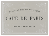 Cafe De Paris Cork-Backed Placemats <br> Set of 4