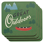 The Great Outdoors Coasters <br> Set of 4