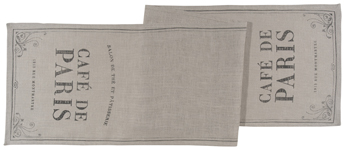 Cafe De Paris Burlap Runner