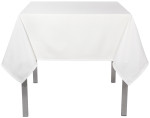 White Renew Tablecloth <br> 60 x 120 inch