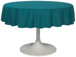 Peacock Renew Tablecloth <br> 60 inch round