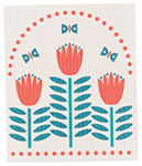 Tulipa Swedish Dishcloth