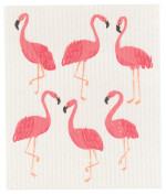 Flamingos Swedish Dishcloth