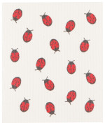 Fly Away Ladybug Swedish Dishcloth