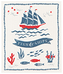 Fish & Ships Swedish Dishcloth