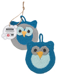 Tawashi Animal Scrubbers - Oliver Owl<br> Set of 2