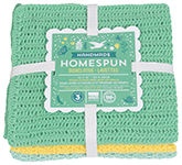 Spring Meadow Homespun Dishcloths <br> Set of 3