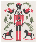 Nutcracker Swedish Dishcloth