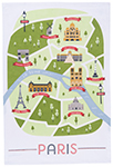 A Day In Paris Dishtowel