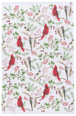 Winter Birds Dishtowel