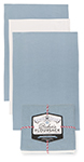 Cloud Blue Baker's Floursacks <br> Set of 3