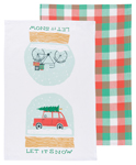 Let It Snow Dishtowels <br> Set of 2