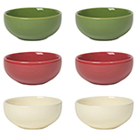 Pinch Bowls <br> Set of 6 Holiday