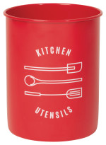Red Utensil Crock