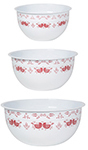 Folk Feathers Mix and Serve Bowls <br> Set of 3