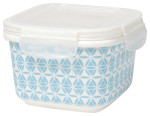 Snack n Serve Medium Blue Geo