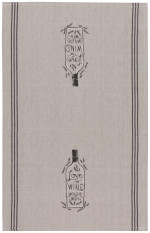 Love The Wine You'Re With Chambray Dishtowel