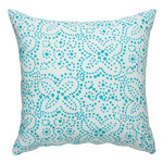Batik Turquoise Cushion Cover <br> 17x17