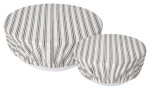 Ticking Stripe Bowl Cover Set of 2