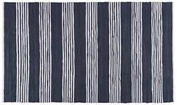 Blue Chindi Stripe Rug <br> 3' x 5'