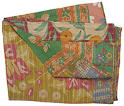Vintage Kantha Patchwork Throw
