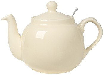 Farmhouse Filter Teapot <br> 4-Cup Ivory