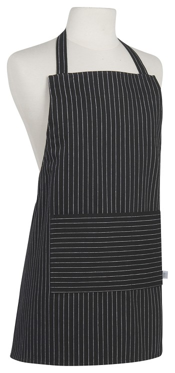 Black Pinstripe Junior Apron