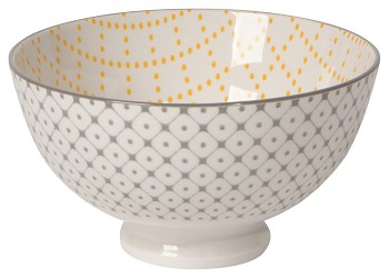 Stamped Bowl Yellow Lattice <br> 4 inch