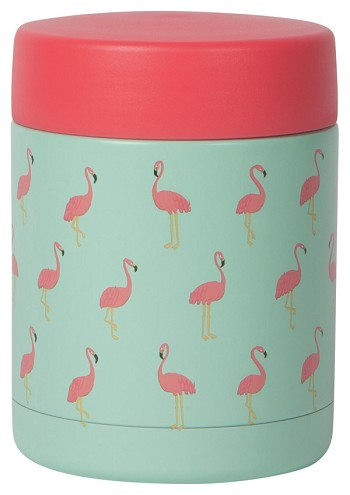 Flamingos Roam Food Jar Small